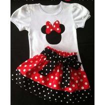 Vestido Fantasia Festa Infantil Minnie Aniversário