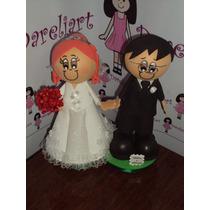 Topo De Bolo Noivinhos Em Eva 3d - Casamento
