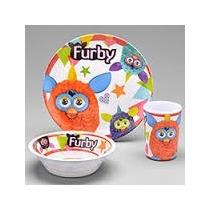 Furby Kit Alimentação Prato Raso E Fundo Com Copo - By Kids