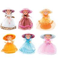 Conjunto Kit C/6 Bonecas Cupcake Do Coração Da Estrela
