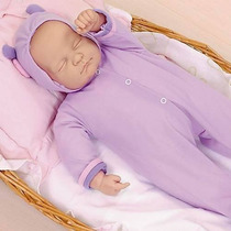 Boneca Coleção Ninos Dormindo + Berço Ninos - Cotiplás Bebê
