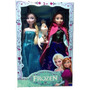 Kit Bonecas Disney Frozen Princesas Anna E Elsa + Olaf