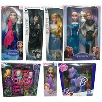 Lote Kit 10 Bonecas Frozen Malevola Monster High Sofia Pony