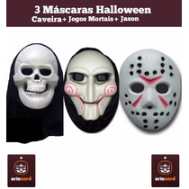 São 3 Mascaras Halloween Festa Fantasia - (combo Terror)