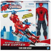 Boneco Homem Aranha Spider Man Veículo C/ Helicóptero Hasbro