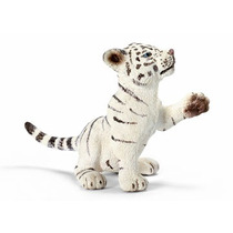 Boneco Alemao Schleich 14385 Filhote Tigre Branco Brincando