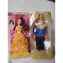 Bela E A Fera Disney Casal Bonecos 30 Cm Articulada Disney