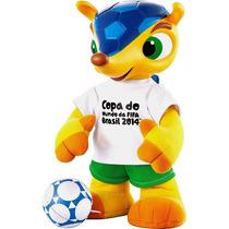 Boneco Fuleco Com Mecanismo 35 Cm - Mascote Da Copa Grow