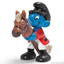 Horse Rider Smurf - Miniatura Imp. Schleich - Smurfs - Nova!