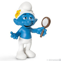 Vanity Smurf - Miniatura Imp. Schleich - Smurfs - Nova!