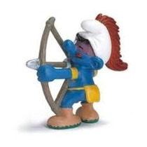 Archer Smurf - Miniatura Imp. Schleich - Smurfs - Nova!
