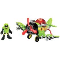 Imaginext Avioes Medios Sky Racer - Avião Sea Stinger