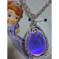 Princesa Sofia Disney Amuleto Colar Que Acende E Brilha