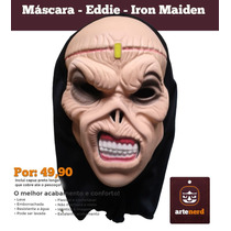 Máscara Terror Fantasia Halloween Cosplay- Eddie Iron Maiden