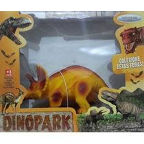 Boneco Mini Dinossauro (tricerátopo) Amarelo - Rotobrinq