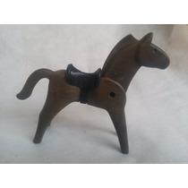 Boneco Playmobil Cavalo Com Cela Antigo Miniatura (2)
