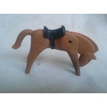 Boneco Playmobil Cavalo Com Cela Antigo Miniatura