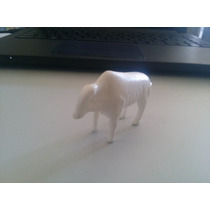 Bonecos Miniatura Fazenda Boi Branco