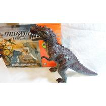 Dinossauro Tiranossauro Rex 3d Anda Acende Olhos 30cm