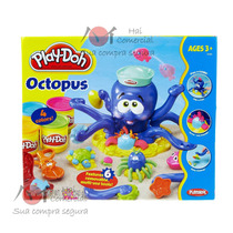 Play Doh Magic Octopus, Polvo Divertido + 4 Massinhas Bônus!