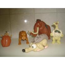 5 Bonecos Da Era Do Gelo Da Coleção Mc Donalds - R$ 28,00.