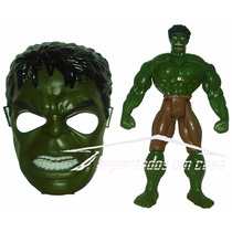 Boneco + Mascara Homem De Ferro Cap America Homem Aranha Etc