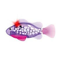 Robô Fish - Dtc - Peixe Roxo E Branco - Série Neon