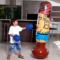 João Bobo Inflável 1,65m Lobisomem +luvas Boxe Brinquedo Mor