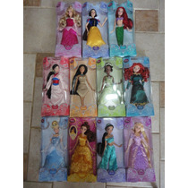 Princesas Disney 05 Bonecas Original Disney 30 Cm Articulada