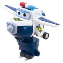Miniatura Paul Super Wings Robô/avião Original Pronta Entreg
