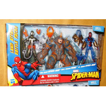 Spider-man Land Attack Battle Pack - Marvel Hasbro - 3 Figs
