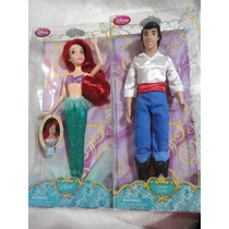 Ariel E Eric Princesa Disney Bonecos Articulados 30 Cm 2013