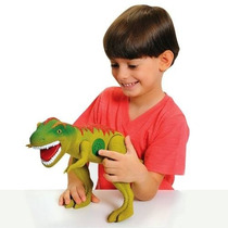 Dinossauro Brinquedo Grande Tirano Rex Com Som Adjomar