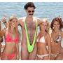 Borat Mankini Traje Adulto Fantasia Maiô Verde