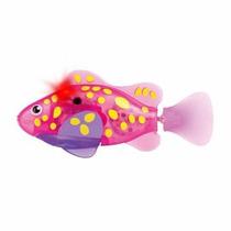 Robô Fish - Dtc - Peixe Rosa E Amarelo - Série Neon