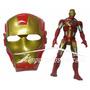 Brinquedo Kit Boneco + Mascara De Varios Herois Articulados