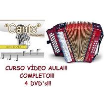 Aulas De Acordeon E Canto Em 4 Dvds Pague Com Mercado Pago
