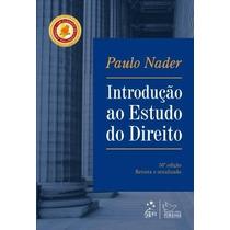 Introdução Ao Estudo Do Direito Nader, Paulo Editora Forense