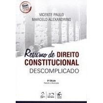 Livro Em Pdf. Resumo De Direito Constitucional Descomplicado