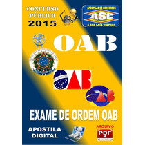 Apostila Oab Exame De Ordem 2015