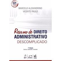 Resumo De Direito Administrativo Descomplicado 2014 Em P.d.f