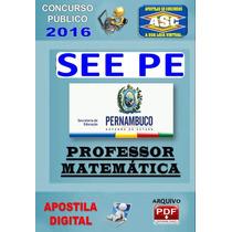 Apostila Concurso See Pe Professor Matematica 2016