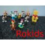 Coleção Mickey E Pooh Kinder 12 Bonecos