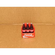 Miniatura Caixa Coca-cola De 1 Litro Com 3 Garrafas