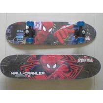 Skate Infantil Homem Aranha Com Personagens Marvel