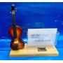 Miniatura De Instrumento Violino Com Porta Cartão De Visitas