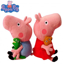 Peppa Pig Pelúcia Porquinha Rosa Desenho Tv - Frete Grátis