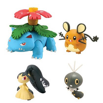 4 Bonecos Pokemon Venusaur, Dedenne, Scatterbug, Mawille