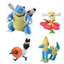 4 Bonecos Pokemon Blastoise, Flabebe, Fletchling, Manectric