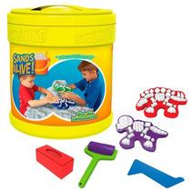 Brinquedo Infantil Sands Alive Balde Dinossauro Yellow